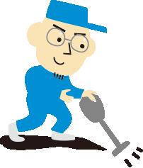シロアリ防除の掃除・養生